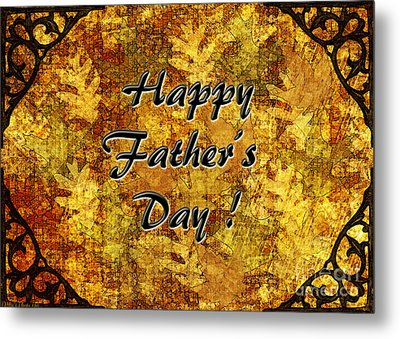 Father's Day Greeting Card I Metal Print by Debbie Portwood