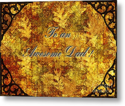 Father's Day Greeting Card II Metal Print by Debbie Portwood