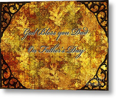 Father's Day Greeting Card IIi Metal Print by Debbie Portwood