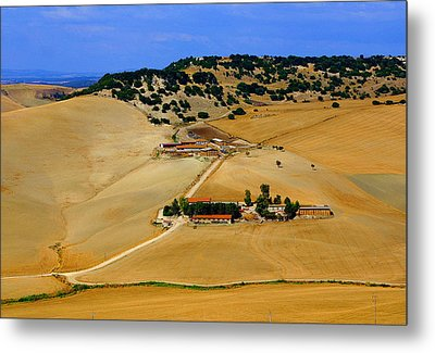 Farm In Rural Tarquinian Metal Print