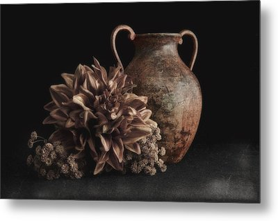 Faux Flower Still Life Metal Print