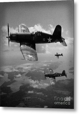 Metal Print featuring the photograph Faux Wwii Corsair Photo by Stephen Roberson