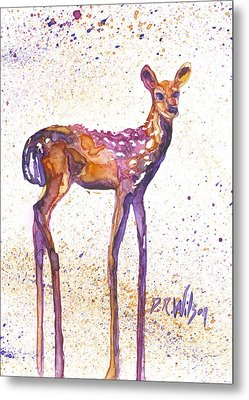 Fawn Rising Metal Print by D Renee Wilson