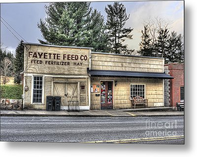 Fayette Feed Co Metal Print by Dan Friend