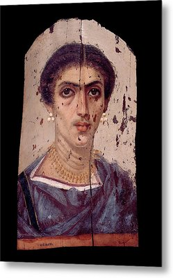 Fayum Mummy Portrait Metal Print by Petrie Museum Of Egyptian Archaeology, Ucl