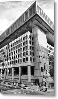 Fbi Building Rear View Metal Print by Olivier Le Queinec