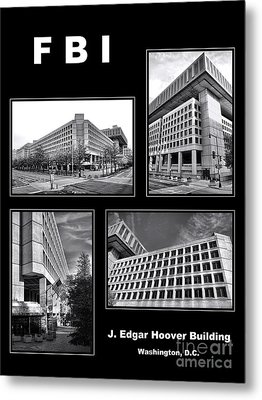 Fbi Poster Metal Print by Olivier Le Queinec
