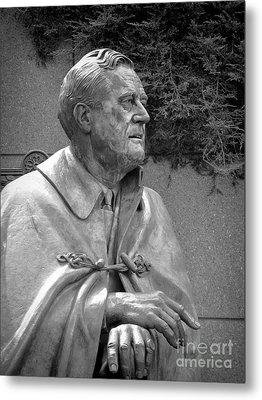 Fdr Statue At Fdr Memorial Metal Print by William Kuta