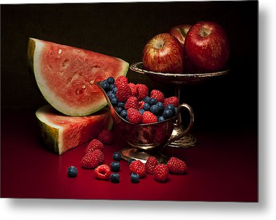 Feast Of Red Still Life Metal Print by Tom Mc Nemar