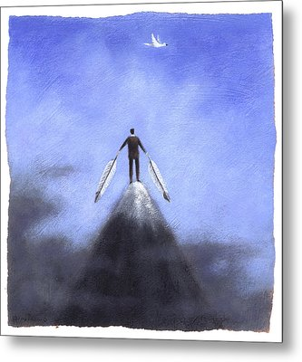 Feather Man Metal Print