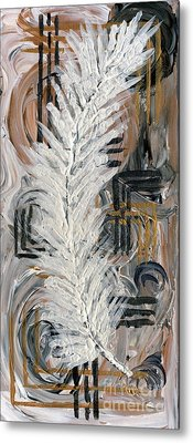 Feather Of Light Metal Print