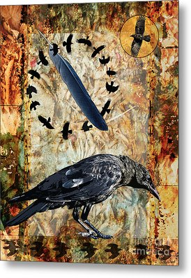 Feather Of Remembering Metal Print by Judy Wood