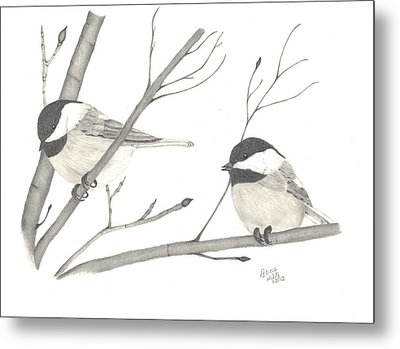 Feathered Friends Metal Print by Patricia Hiltz