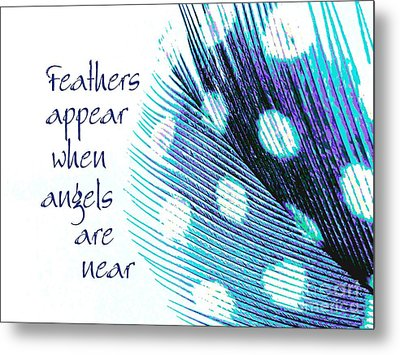 Feathers Appear Metal Print by Sally Simon