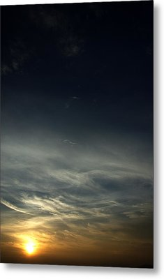 Feathery Clouds Metal Print