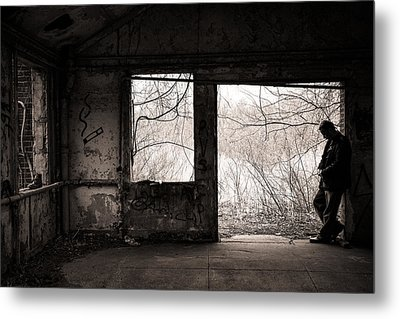 February - Comfortable Seclusion - Self Portrait Metal Print by Gary Heller