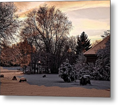 Metal Print featuring the digital art February Evening Light by Aliceann Carlton
