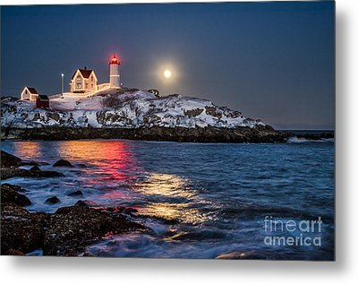 February Full Moon Metal Print by Scott Thorp