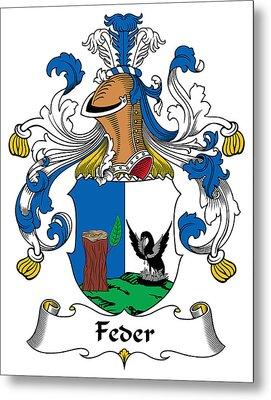 Feder Coat Of Arms German Metal Print