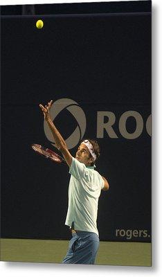 Federer's Serve Metal Print by Bill Cubitt
