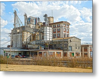 Feed Mill Hdr Metal Print by Charles Beeler