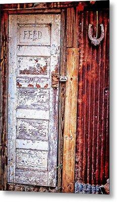 Feed Room Door Metal Print by Kelly Kitchens