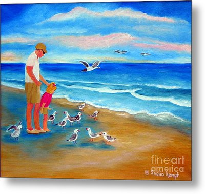 Metal Print featuring the painting Feeding Time by Shelia Kempf