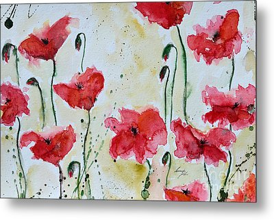 Feel The Summer 1 - Poppies Metal Print by Ismeta Gruenwald