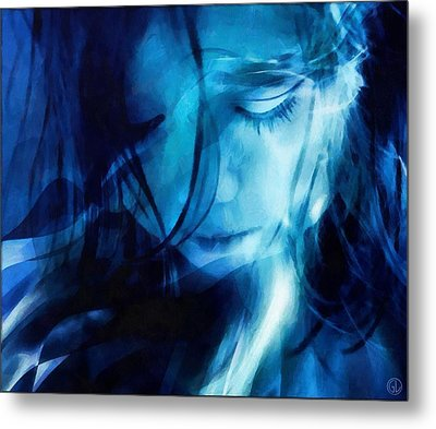 Feeling A Little Blue Metal Print by Gun Legler