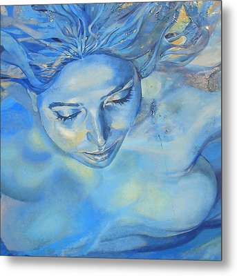 Feeling Blue Metal Print by Ramona Johnston