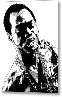 Fela Kuti Metal Print by Nancy Mergybrower