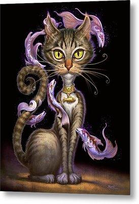 Feline Fantasy Metal Print by Jeff Haynie