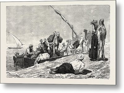 Fellah Ferry Between Keneh And Dendera Metal Print by Litz Collection