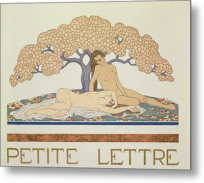 Female Nudes Metal Print by Georges Barbier