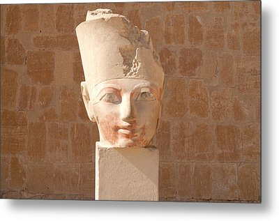 Female Pharoah Hatshepsut Metal Print by Brenda Kean