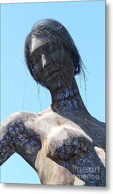 Female Sculpture On San Francisco Treasure Island 7d25444 Metal Print by Wingsdomain Art and Photography