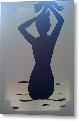 Female Silhouette Metal Print by Judi Goodwin