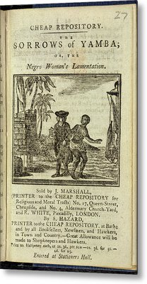 Female Slave Metal Print by British Library