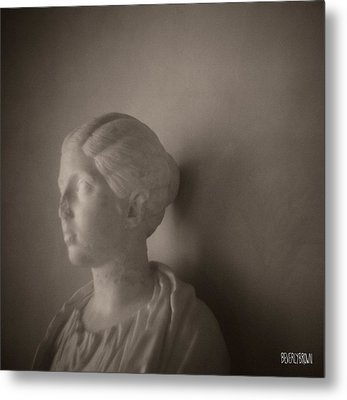 Female Statue With Broken Nose Metal Print by Beverly Brown
