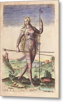 Female Warrior Metal Print