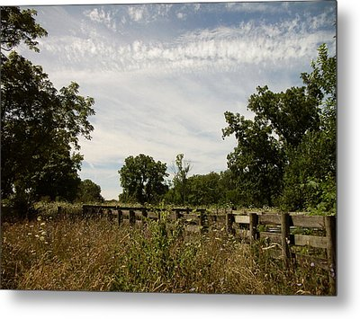 Metal Print featuring the photograph Fence 2 by Cynthia Lassiter