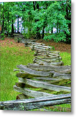 Fence Line Metal Print by Dan Stone