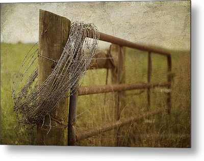 Fence Post Metal Print by Kathy Jennings