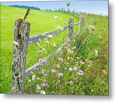 Fence Post Metal Print by Melinda Fawver