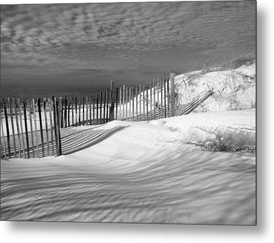 Fence Shadows Metal Print by Dianne Cowen