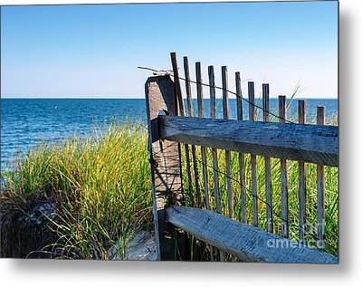 Metal Print featuring the photograph Fence With A Great View by Mike Ste Marie