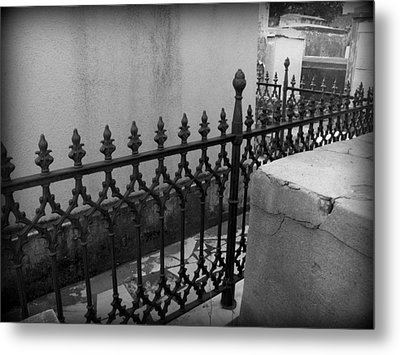 Fenced In Metal Print by Beth Vincent