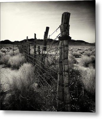 Fenceline Metal Print