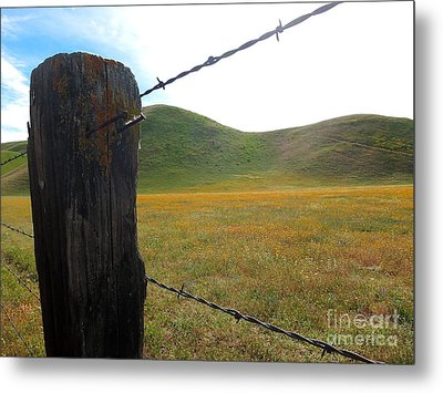Fencepost On The 58 Metal Print
