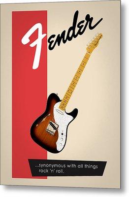 Fender All Things Rock N Roll Metal Print by Mark Rogan